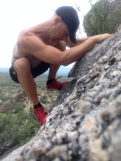 inov-8's sticky rubber works well on rocks