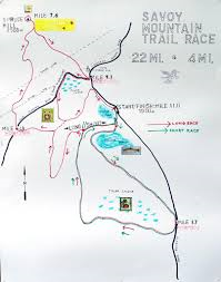 Trail Map for Savoy Mountain Race