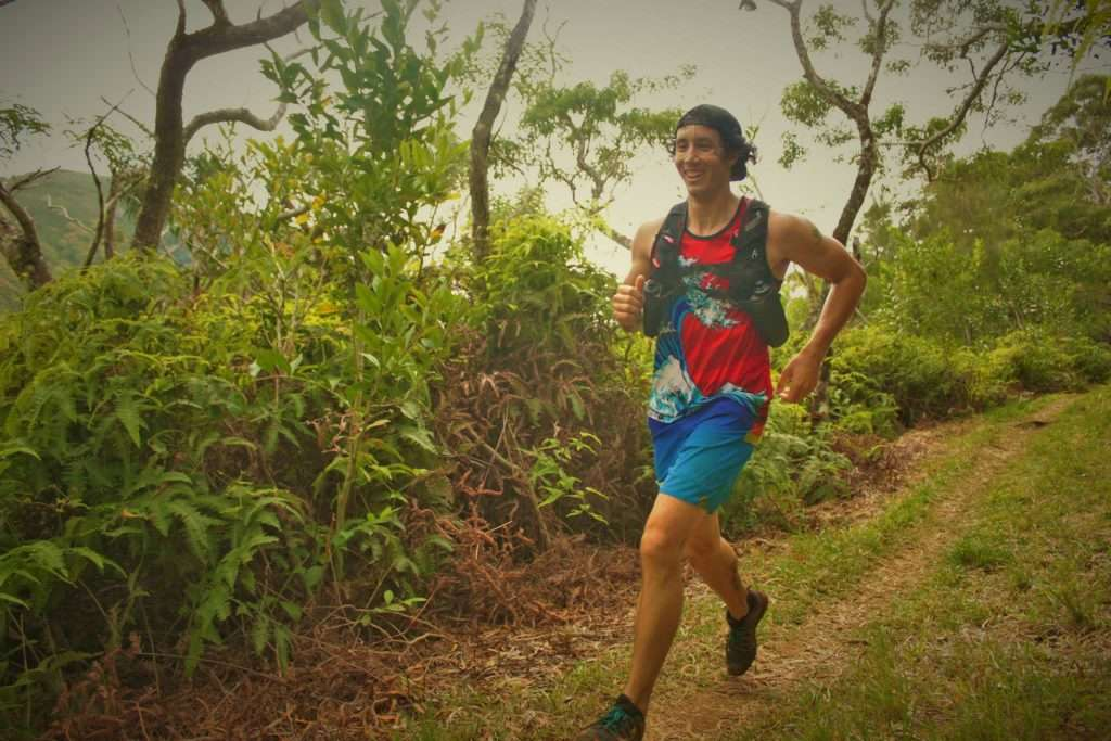 Still feeling strong in the beginning half of the HURT100 in Hawaii Photo Credit: Rob Lahoe