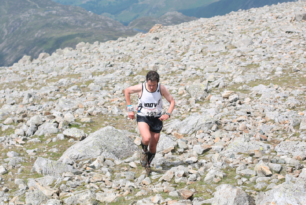Ben Abdelnoor on his way to victory at the 2013 Wasdale race. Photo by Bryan Mills.