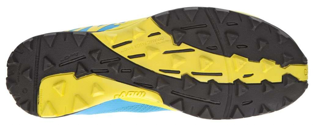 Outsole of the Terraclaw 220, featuring multi-directional lugs