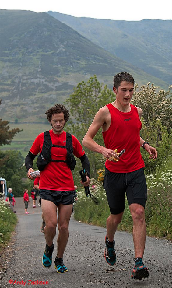 Adam Perry running his attempt at the Lake District 24-Hour Record in 2015.