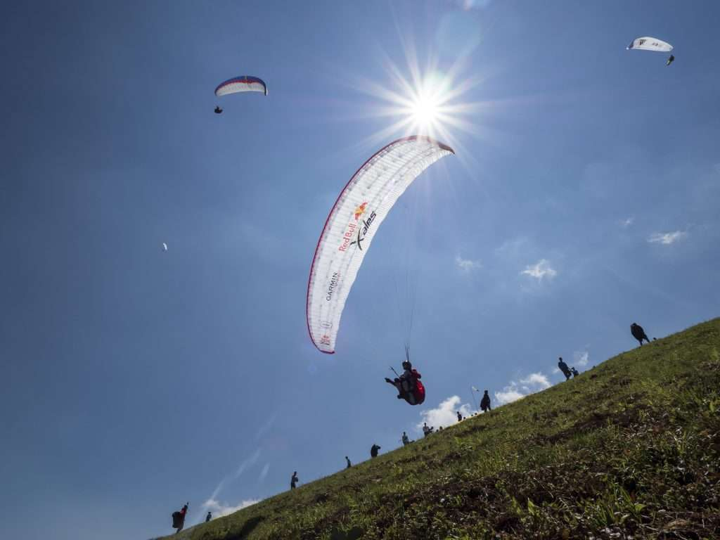 Steve Nash (GBR) performs during Red Bull X-Alps prolog at Zwoelferhorn, Austria on July 2nd 2015