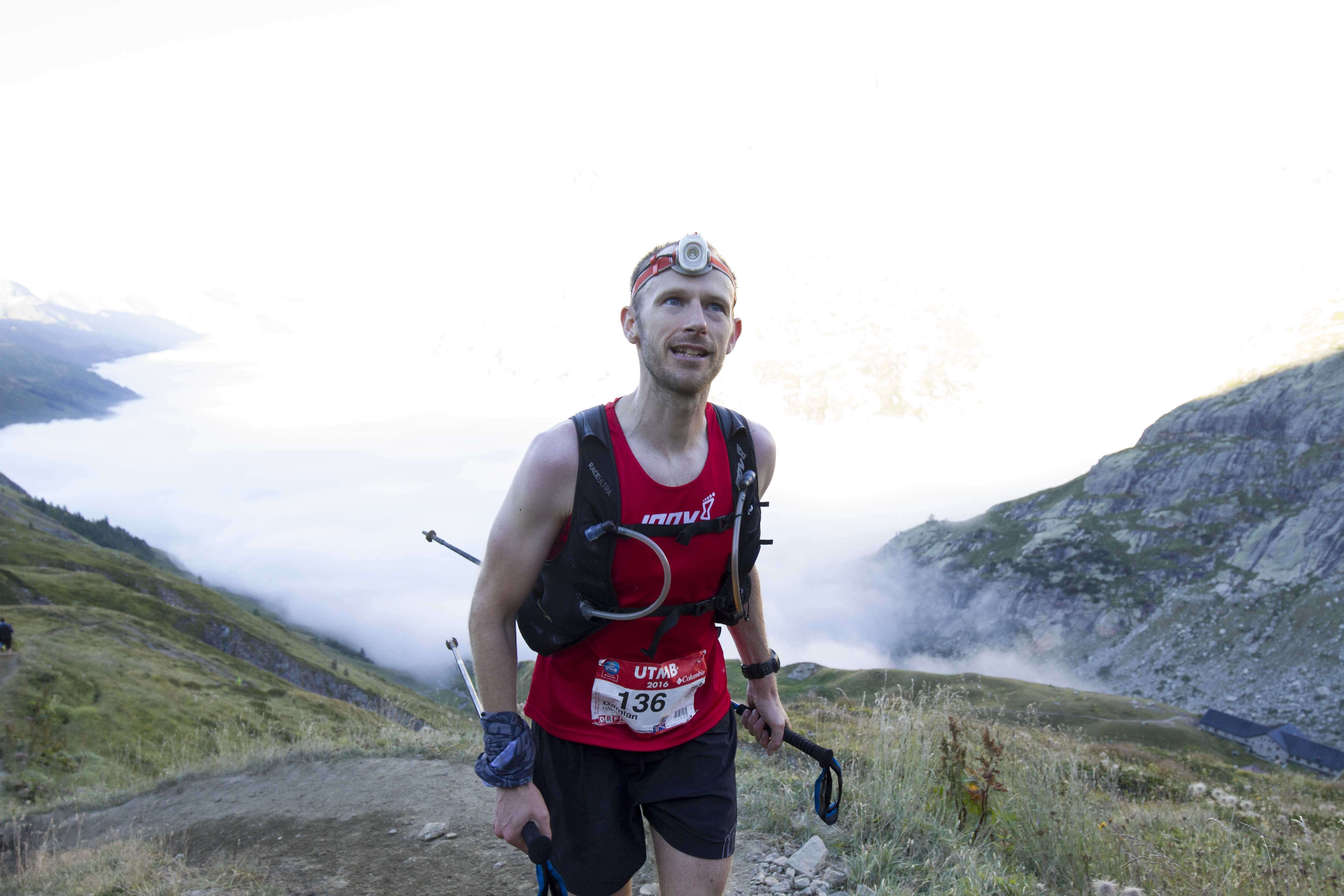 Damian Hall UTMB 2016. inov-8 Trail Talon 275. Photo: James MacKeddie.