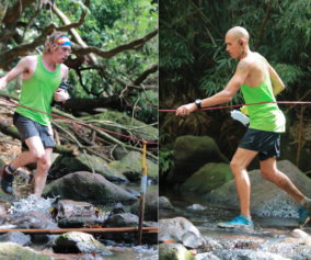 Avery Collins and Yassine diboun at HURT 100 ultra. Photos by Kalani Pascual