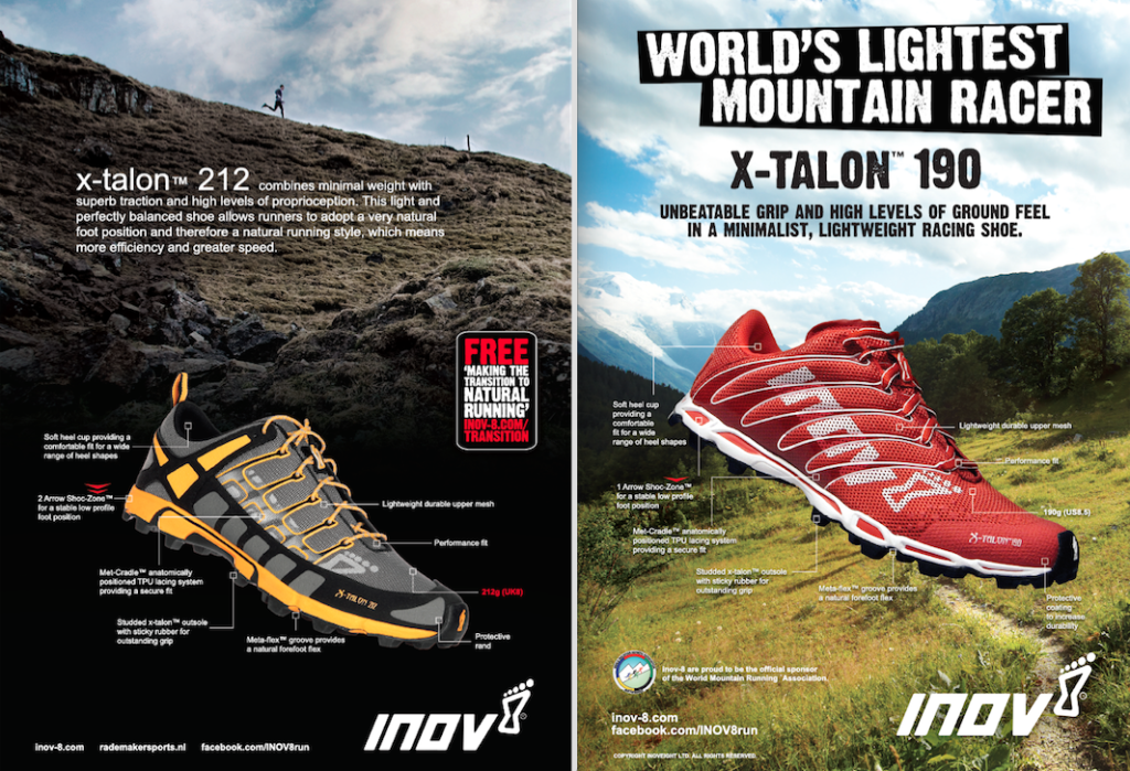 early inov-8 x-talon adverts