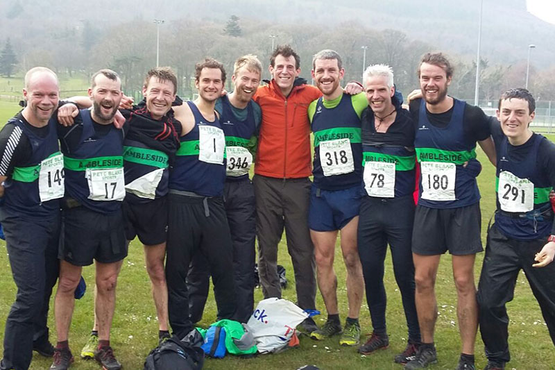 Paul (fourth from the right) with Ambleside AC clubmates