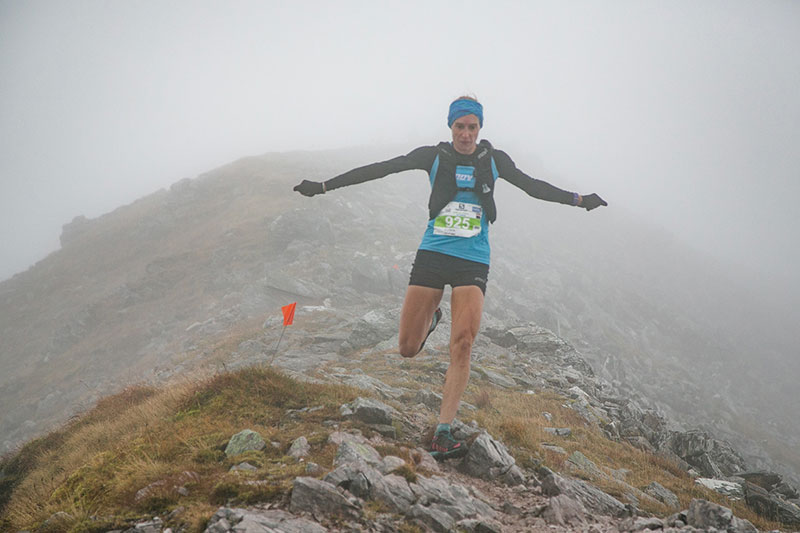 Victoria Wilkinson flying over the rocky trails at the Skyrunning World Championships. Photo: Olivier Vin