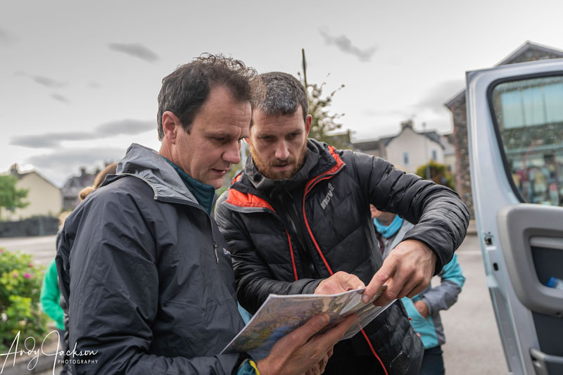 Steve Birkinshaw and Paul discuss the route for the first leg