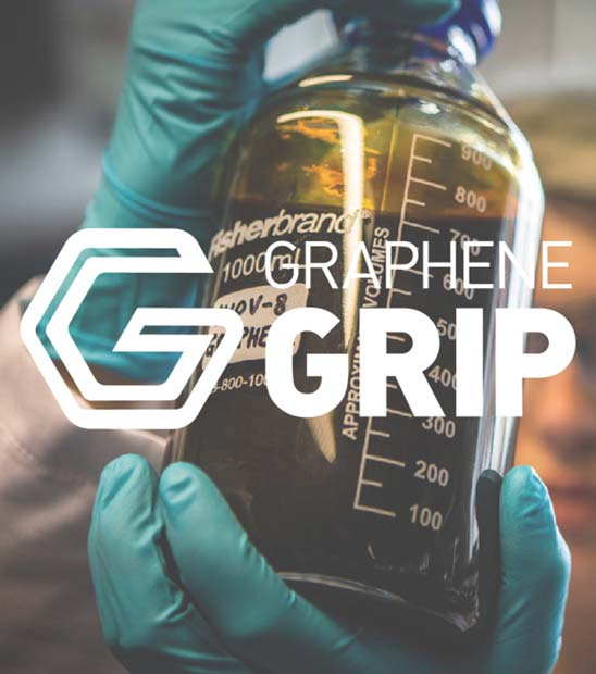 Bottle of graphene held up